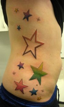 Color Stars on ribcage by PainlessJames