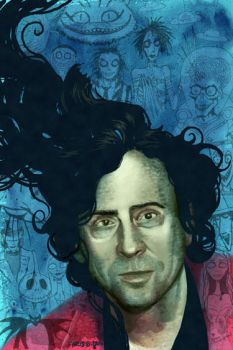 Tim Burton Portrait commission by ChrisChuckry