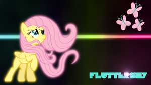 FlutterShy-Wallpaper by Mizz-Magic