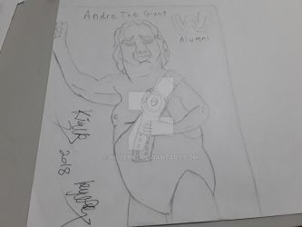 Andre The Giant WWF Sketch by killerk7