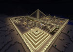 Egypt town in MineCraft by Yahmos