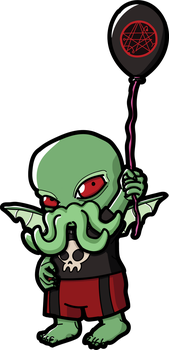 Wee Great Ancient One Cthulhu by THUNDRkitty