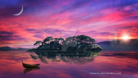Landscape with Island by jiajenn
