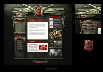 Alien Sci-Fi Game Web Template by karsten