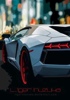 Lamborghini Vector Colored by Liger-Inuzuka