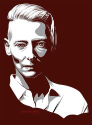 Tilda Swinton by sergemalivert