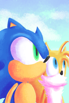 Sonic and Tails by SparkAdam