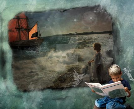 Reading Magic At Sea by PattiPix