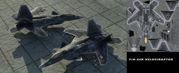 F/A-22X Velociraptor Model and Texture by Kekszbelow