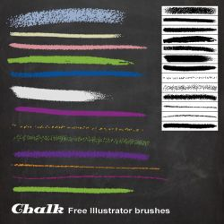 Chalk Illustrator brushes by melemel