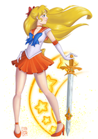 fan art of sailor venus by MissCosmicBear
