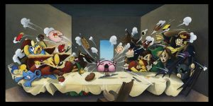 The Final Supper - Smash Bros. Parody Painting by Riskyo