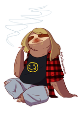 Grunge Sloth - Musical Sloths by IllustratedJai