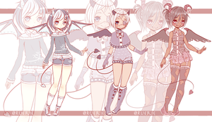 Demons in Style Adopts [$8/OPEN] by Ruerie