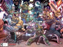 TMNT:Mutants in Manhattan_PromoPoster by Santolouco