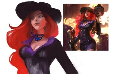 Mafia Miss Fortune (League of Legends Fanart) by IroPagis