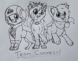 Team Canines~! (For TomodachiSmash~!) by Pixelboid