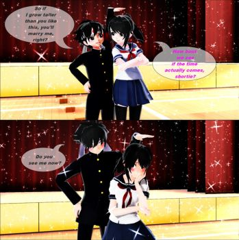 MMD-Yandere Simulator-Time. by Stefy5000