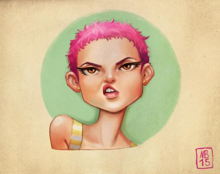 Bubblegum head by SuperKaninja