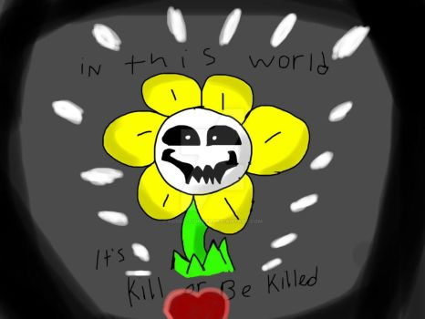 Flowey by fossil-fighter