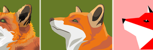 From Illustration to Logo: Fox by qBATGIRLq