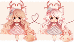 Valentine Love Deer Closed by Maruuki