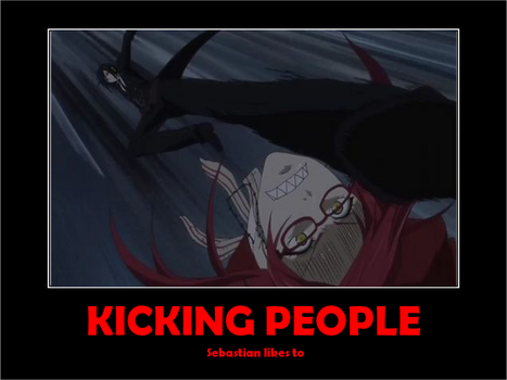 Kicking People by 1HellOfAnOtaku