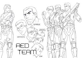 Red vs Blue - Red Team by Phill-Art
