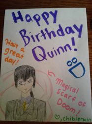 Happy Birthday Quinn! by ChibiErwin