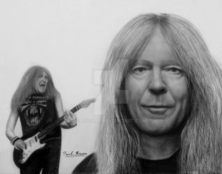 Janick Gers - Iron Maiden by Polonx