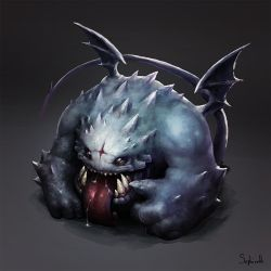 Angry Demon   Bestiary by Sephiroth-Art