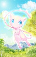 Pokemon:  Blue eyes Mew by elyoncat