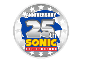 Sonic 25th Anniversary Logo Remake by NuryRush