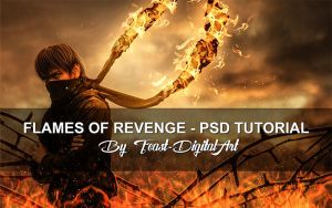 Flames Of Revenge - PSD File by Feast-DigitalArt
