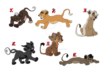 Adoptable lion cubs closed by RivertailofRiverclan