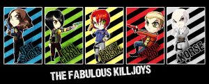 Chibis - The Fabulous Killjoys by MegzieSassypants