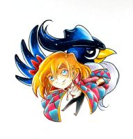 Pokezaki charm design #9- Howl and Honchkrow