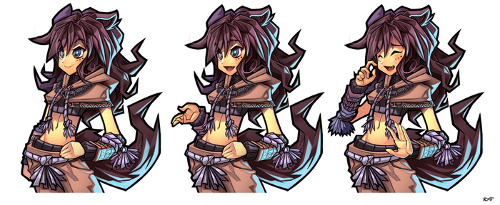 Mangoi sprites by R-no71