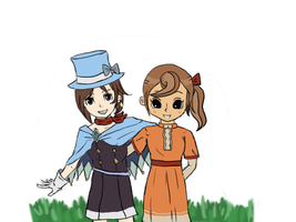 Trucy and Flora by Silentsnowman
