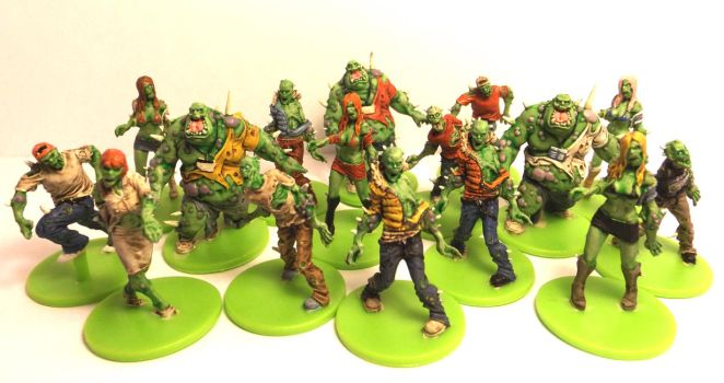 Zombicide Painted Toxic Zombies by robduckyworth