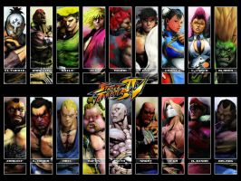 SFIV Arcade Roster - Fancy by Vegett0