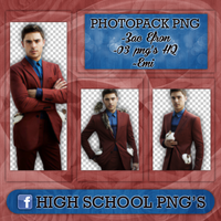 Photopack Png Zac Efron by Emifloow