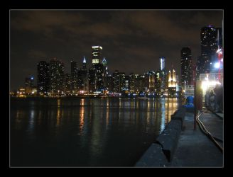Chicago by night by maurice