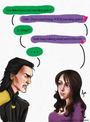 Loki x Darcy - 'Loki's Monologue Interrupted' by riotfaerie