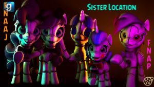 [DL]FNA AJ/pinkie's sister location ponytronics by MinerJacker