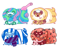 (1/4 OPEN) Yummibear adopts - ice cream version by TeamCapumon