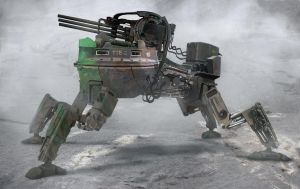 The old rusted mech by LMorse