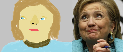 Drawing Hillary in mspaint with a refference. by SuperSexyLisa69