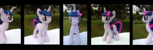 Twilight Sparkle Plush - Commission by fireflytwinkletoes