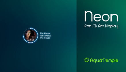 Neon for CD Art Display by AquaTemple